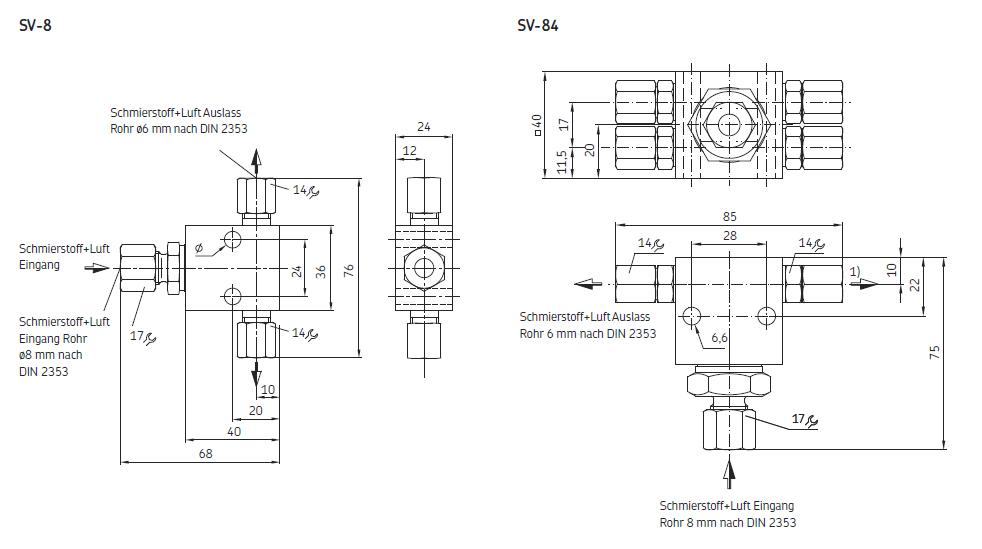 SKF Mengenteiler SV-8 / SV-84