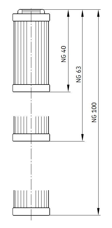 SKF Filterelement Maßbild