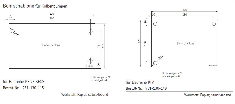 SKF Bohrschablonen für Kolbenpumpen
