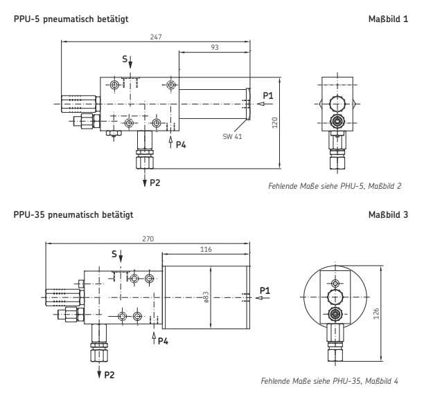 PPU Pumpe Technische Zeichnungen
