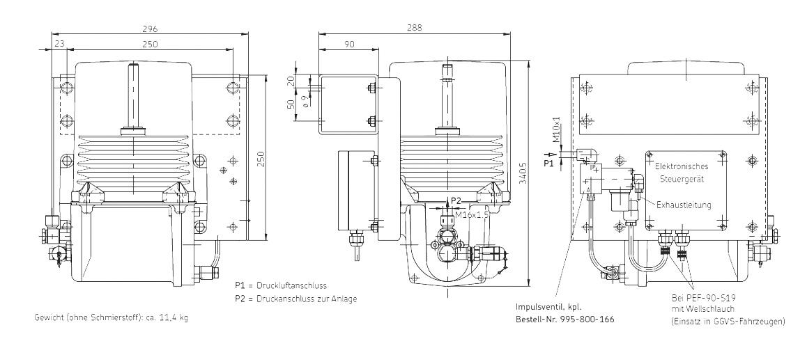 PEF-90-S14 technische Zeichnung