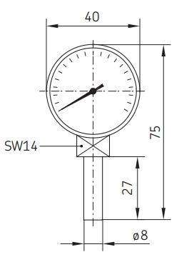 Manometer für Zentralschmieranlagen