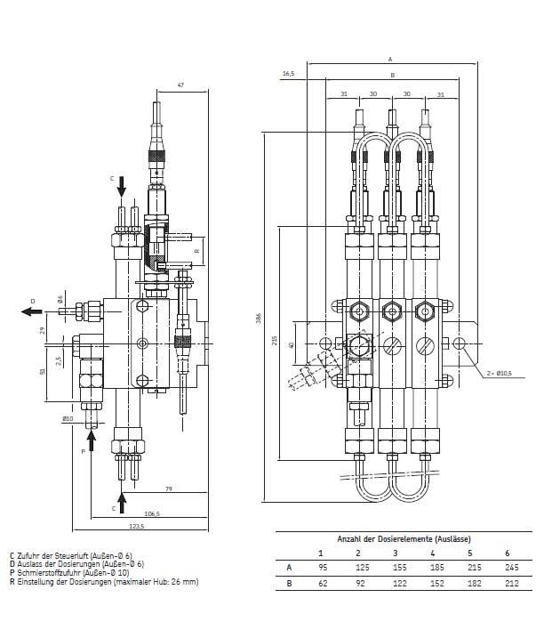 DH.N Abmessungen zwei Näherungsschalter
