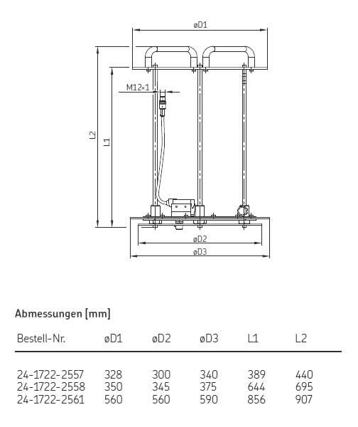 Pumpengestell Maßbild