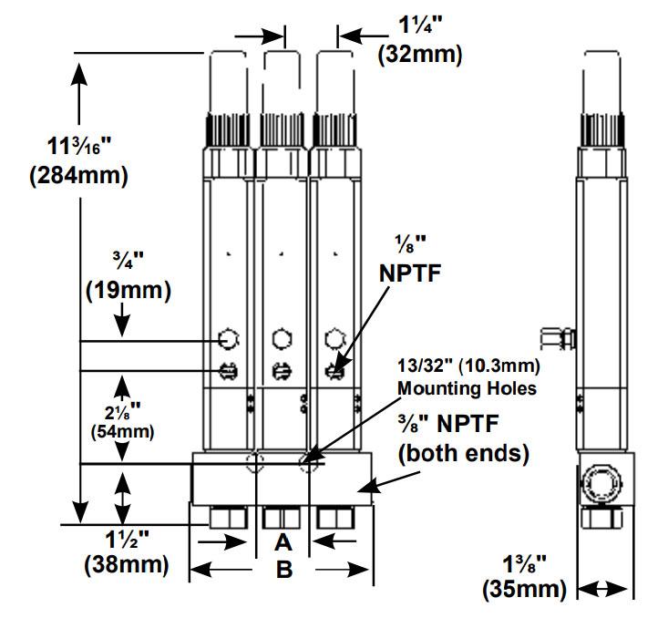 SL-V XL Verteiler Maßbild