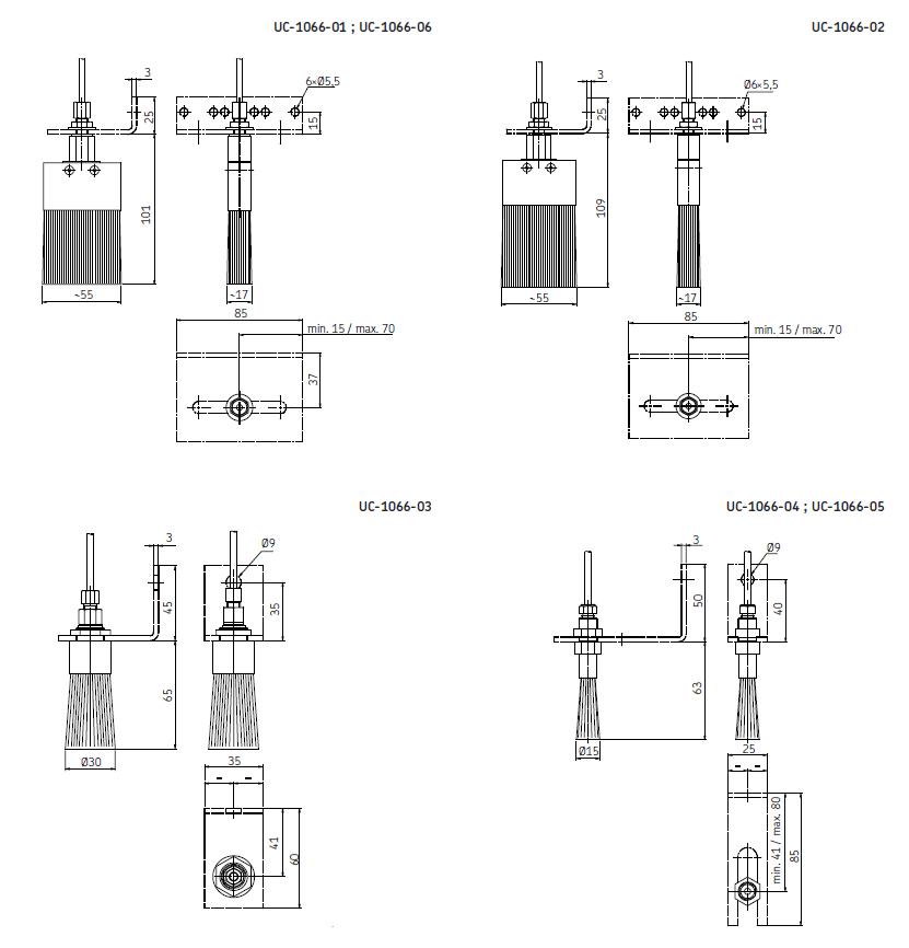 Ölbürste UC Abmessungen