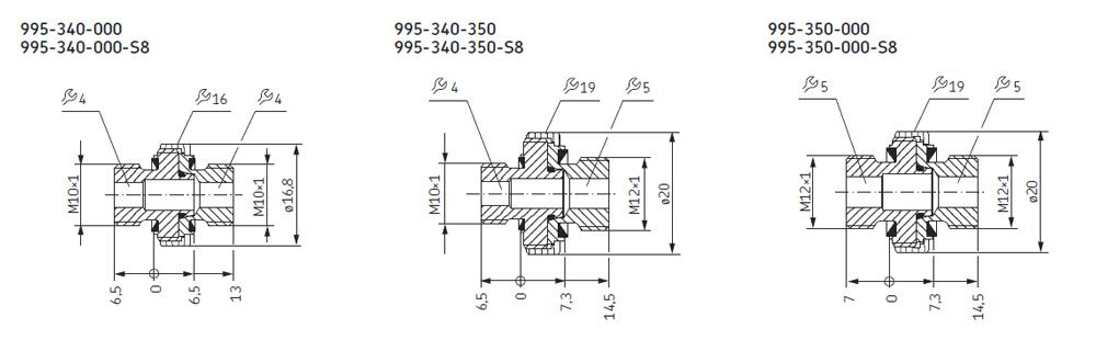 Flexibles Verbindungs-Set Abmessungen